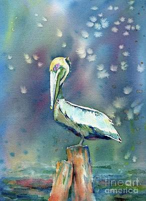 Pelican Art Print by Mary Haley-Rocks