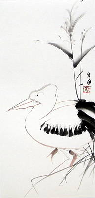 Pelican Art Print by Ming Yeung