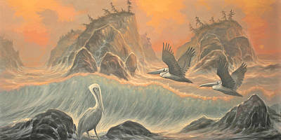 Pelican Paradise Print by Marte Thompson
