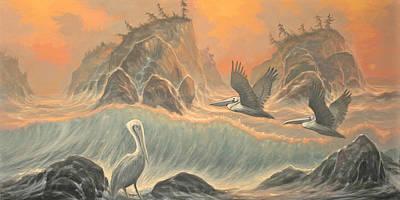 Pelican Paradise Art Print by Marte Thompson