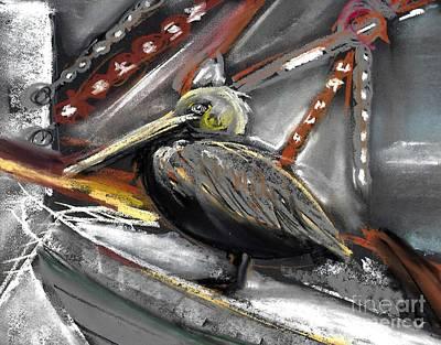 Pastel - Pelican Pastel  by Valerie Reeves