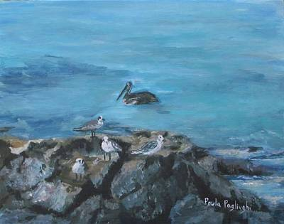 Painting - Pelican Patrol by Paula Pagliughi