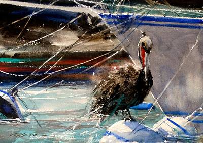 Painting - Pelican Pause by Sandra Strohschein
