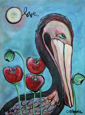 Painting - Pelican Poppies 2 by Laurie Maves ART