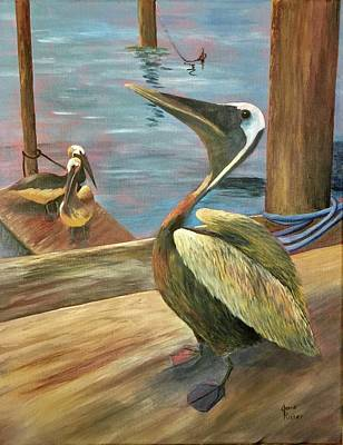 Painting - Pelican Pride by Jane Ricker