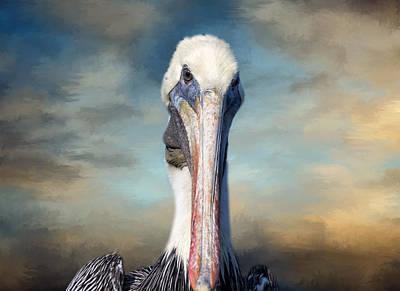 Pelican Profile Art Print