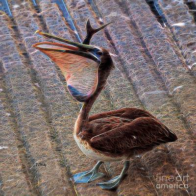Photograph - Pelican Quandary  by Patrick Witz