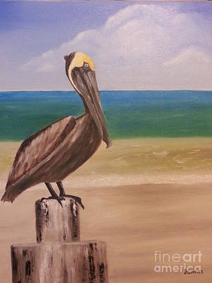 Painting - Pelican Rest Stop by Bev Conover
