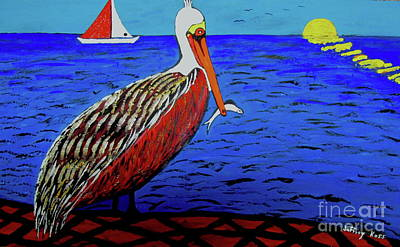 Painting - Pelican Snack by Jeffrey Koss