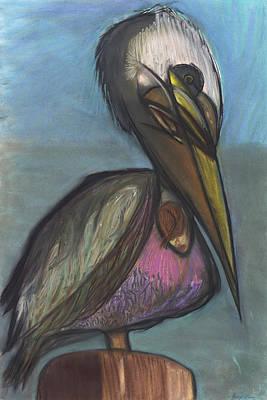 Pelican Art Print by Stu Hanson