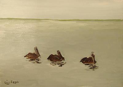 Pelican Study 1 Art Print by Liz Rose