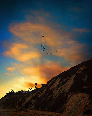 Photograph - Pelicans At Arroyo Burro by Timothy Bulone