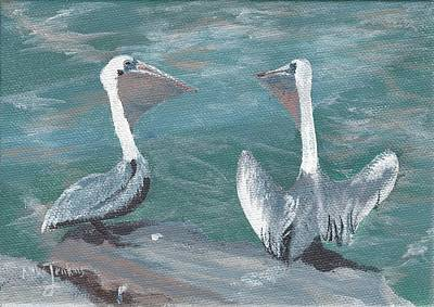 Painting - Pelicans At Fort Pierce by Mike Jenkins