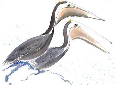 Pelicans Art Print by Mui-Joo Wee