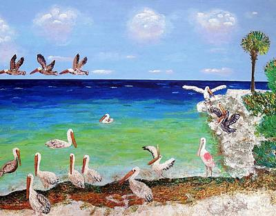 Painting - Pelicans by Vicky Tarcau
