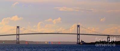 Photograph - Pell  Bridge by Lennie Malvone