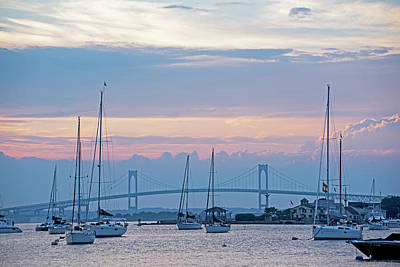 Photograph - Pell Bridge Newport Harbor Newport Ri Rhode Island by Toby McGuire
