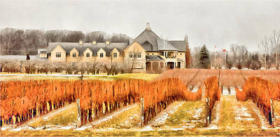 Digital Art - Peller Estates - Niagara On The Lake - January by Leslie Montgomery
