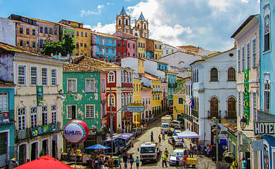 Photograph - Pelourinho, Salvador Bahia, Brazil by Venetia Featherstone-Witty