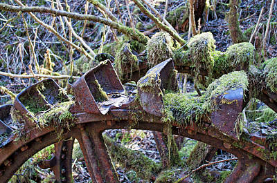Photograph - Pelton Water Wheel Detail - Treadwell Mine by Cathy Mahnke