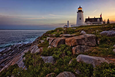 Joeseph Photograph - Pemaquid Light At Dusk by Diana Powell