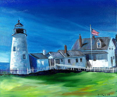 Painting - Pemaquid Light by Jack Riddle