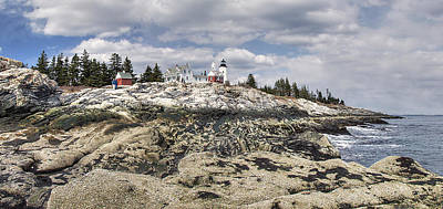 Digital Art - Pemaquid Light Panorama by Patrick Groleau
