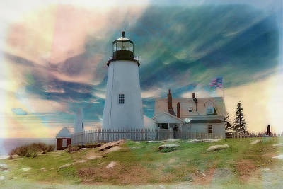 Digital Art - Pemaquid Lighthouse,maine by Rusty R Smith