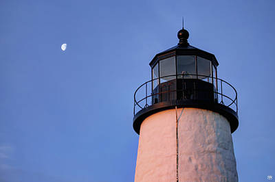 Photograph - Pemaquid Moon by John Meader
