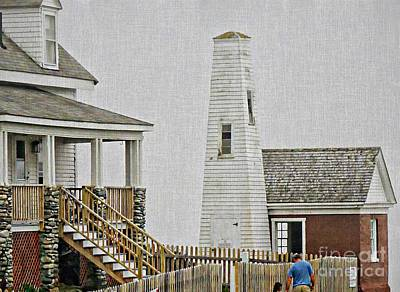 Photograph - Pemaquid Point Bell House by Marcia Lee Jones