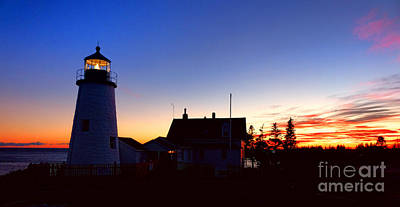 Keepers House Photograph - Pemaquid Point Evening by Olivier Le Queinec