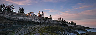 Photograph - Pemaquid Point Light Panorama by Juergen Roth