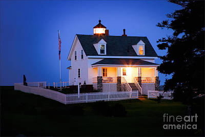 Linda King Photograph - Pemaquid Point Lighthouse 3071 by Linda King
