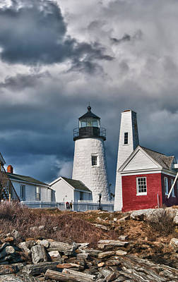 Photograph - Pemaquid Point Lighthouse 4821 by Guy Whiteley