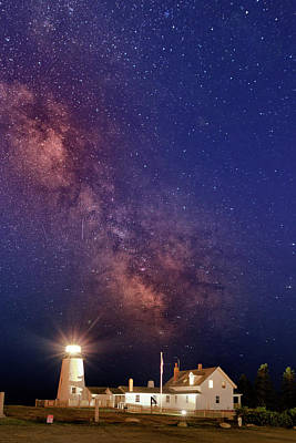 Pemaquid Point Lighthouse And The Milky Way Art Print by Rick Berk
