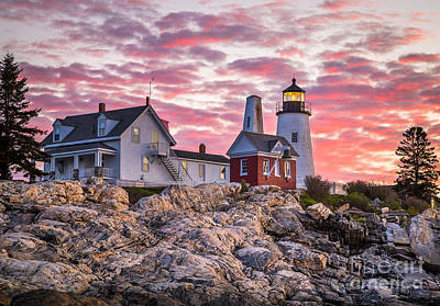 Maine Landscape Photograph - Pemaquid Point Lighthouse  by Benjamin Williamson
