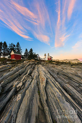 Pemaquid Lighthouse Photograph - Pemaquid Point Lighthouse by Henk Meijer Photography