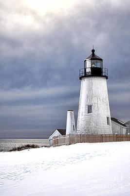 Pemaquid Point Lighthouse In Winter Art Print