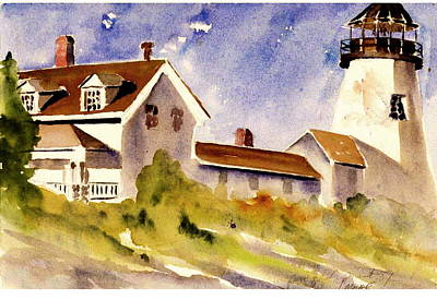 New England Lighthouse Painting - Pemaquid Point Lighthouse by Linda Bourie