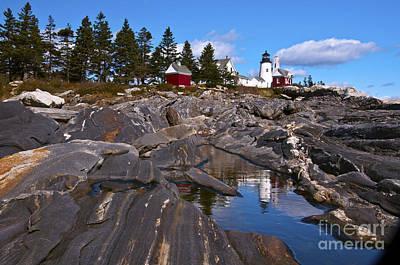 Photograph - Pemaquid Point Lighthouse Maine 2 by Glenn Gordon