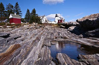 Photograph - Pemaquid Point Lighthouse Maine 6 by Glenn Gordon