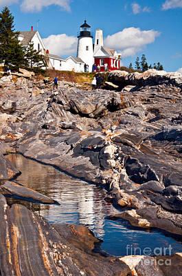 Photograph - Pemaquid Point Lighthouse Maine 7 by Glenn Gordon