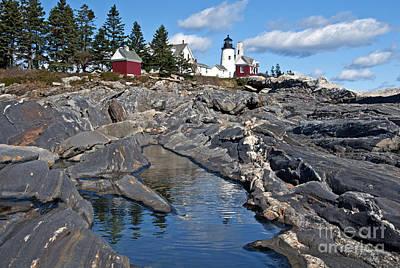 Photograph - Pemaquid Point Lighthouse Maine 8 by Glenn Gordon