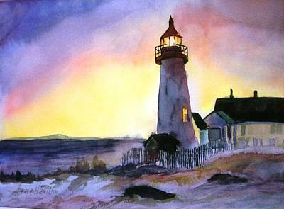 Pemaquid Point Lighthouse Maine Art Print by Larry Hamilton