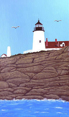 Painting - Pemaquid Point Lighthouse Painting by Frederic Kohli