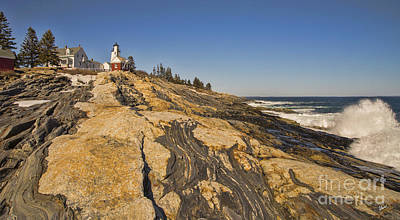 Photograph - Pemaquid Point Lighthouse Wave by Alana Ranney