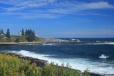Photograph - Pemaquid Point Loop Road Ocean View by John Burk