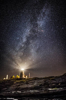 Pemaquid Lighthouse Photograph - Pemaquid Point Milky Way by Robert Clifford