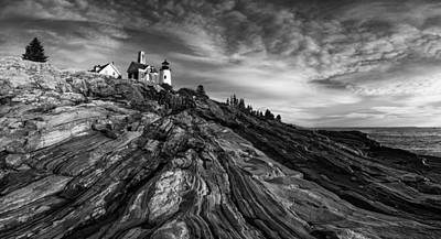 Pemaquid Point Mono Art Print