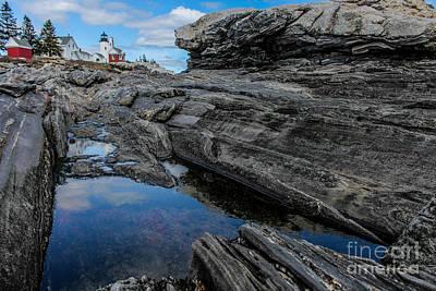 Damariscotta Photograph - Pemaquid Point On The Rocks by Joe Faragalli